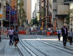 CBD & South East Light Rail - George Street - Update 12 March 2018 (4) (john cowper) Tags: cselr sydneylightrail georgestreet track tracklaying trackslab infrastructure acconia transportfornsw martinplace kingstreet sydney newsouthwales