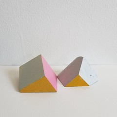 Untitled Composition with Blocks (g̣̃ŗẹ̃g̣̃ ̣̃̃̃ḅ̃ị̃cḥẹ́̃) Tags: paint painting wood acrylic sculpture abstract