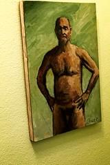 Naked Man (LarryJay99 ) Tags: ondisplay nakedman nudeman men male man art stuffonwalls guy guys dude dudes manly virile studly stud masculine sexyman painting artwork nudepainting malenude walls textures colors