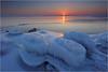 Scallops on Ice (Sandra OTR) Tags: germany ruegen rügen mönchgut ice winter snow schnee eis strand beach kalt kälte gefroren meer ostsee baltic sea sunset sonnenuntergang