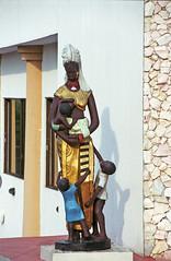 Nigeria The Grand Hotel Asaba City Capital of Delta State Nigerian Artwork Maternal Statue Oct 26 2002 268a (photographer695) Tags: nigeria the grand hotel asaba city capital delta state nigerian artwork maternal statue oct 26 2002