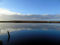 Reflection (stuartcroy) Tags: orkney island kirkwall kirbister loch reflection scotland sony scenery sky still colour clouds beautiful blue bay beach