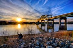 Days Ending along the Mississippi (kendoman26) Tags: hdr nikhdrefexpro2 nikon nikond7100 tokinaatx1228prodx tokina tokina1228 sunset river mississippiriver bridge