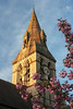 clock tower spring flowers (Jillian Kern) Tags: architecture building tower arches stone england history gothic neogothic oxford university flowers skyline