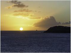 Caribbean sunset (Luc V. de Zeeuw) Tags: caribbeansunset clouds ocean sea sunset water central stjohn usvirginislands