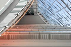 Innenansicht Stadttor I (ARTUS8) Tags: pastell flickr lookingup innenarchitektur nikon28300mmf3556 fenster linien modernearchitektur nikond800 fassade