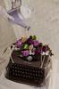 traum (wanda.w) Tags: art vintage typewriter nikon d5100 nikkor lens 40mm flowers flower rose retro roses gardening watering can wateringcan wateringpot glove gloves light white pearls clock time alice wonderland