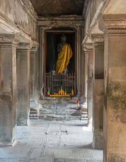 Khmer Buddha at Angkor Wat