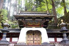 Kokamon gate, Tokugawa Iemitsu's mausoleum, Nikko, Japan (Dimitry B) Tags: japan nikko tokugawa iemitsu mausoleum taiyuin temple cedar cryptomeria lanterns stone staircase tang asia world heritage taiyuinbyo kokamon