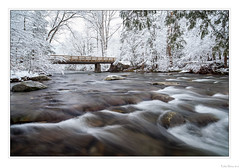 Snowy River (John Cothron) Tags: 5dmarkii 5d2 5dii 5dmkii americansouth cpl canoneos5dmkii cothronphotography distagon2128ze distagont2821ze dixie eastsouthcentralstates greatsmokymountainnationalpark johncothron littleriver metcalfbottoms seviercounty southernregion tennessee thesouth us usa unitedstatesofamerica volunteerstate weargaproad wearsvalley zeissdistagont2821ze afternoonlight bridge circularpolarizingfilter cloudy cold creek diffuse flowing forest freshwater landscape longexposure nature outdoor outside overcast river scenic snow stream water winter woodbridge img10188130302 ©johncothron2013 snowyriver