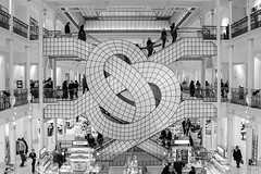 Le Bon Marche (jeffclouet) Tags: paris france europe capital nikon nikkor d7100 monochrome bw nb pb city ville cuidad calle rue street downtown magasin store almacen urban urbano urbain art modern architecture arquitectura stairs staircase escaleras escalator escalier steps streetshot streetphotography streetpic people personas personnes graphique graphic surreal