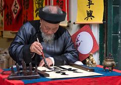 Master Calligrapher (Waldemar*) Tags: asia southeastasia vietnam hanoi calligrapher calligraphy confucian tradition philosophy ôngđồ lunarnewyear tết confucius
