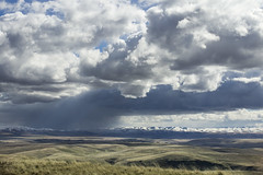 Blue Mountains eastern Oregon (Bonnie Moreland (free images)) Tags: oregon winter snow clouds storm bluemountains plains prairie topf505074faves