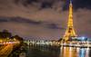 La Tour Eiffel - Paris (valecomte20) Tags: tour eiffel paris france nikon d5500 ciel sky bluehour bridge seine