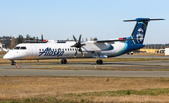 N449QX Horizon Air Bombardier Q400@YYJ 10Mar18 (Spotter Brandon) Tags: horizonair horizon chester newlivery q400 bombardier cyyj yyj victoria turboprop dash8 n449qx
