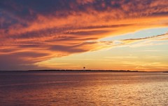 Water Tower & Clouds After Sunset (S&L Smith) Tags: mississippi pascagoulams sunset gulfofmexico gulfcoast sonya7ii a7ii canonef canon 24105f4 canonllens