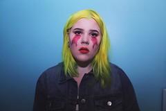 Cry Baby (Manz Piencak) Tags: makeup makeuplook glitter selfportrait yellowhair cutcrease glittertears