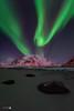La Dama en Uttakleiv (Caramad) Tags: light night flakstad aurora estrellas landscape longexposure dama luzdelnorte snow artico agua winter uttakleiv