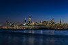 passing through (pbo31) Tags: bayarea california night dark black nikon d810 color march 2018 boury pbo31 sanfrancisco city skyline urban salesforce construction lightstream motion blue reflection bay water over view motionblur ship container sail treasureisland 181fremont transamerica bluehour