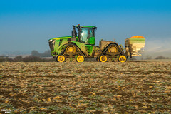 Regenerative fertilization of winter oilseed rape   JOHN DEERE // AMAZONE (martin_king.photo) Tags: spring springwork2018 regenerative fertilization regenerativefertilization johndeere johndeere8200 jdrx johndeere9620rx amazone amazonezats4200 fertilizerspreader spreader oilseed rape springwork powerfull martin king photo agriculture machines strong agricultural great day czechrepublic sky fans work place big machinery yellow tschechischerepublik martinkingphoto welovefarming working modern landwirtschaft green red colorful colors blue mais maize corn photogoraphy photographer canon tractor tracs frozen frosty morning frost cold worker panning speed