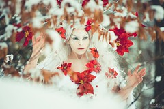 """TEATRONATURA """"The Spirit of winter"""" (valeriafoglia) Tags: winter style stylist spirit snow nature nymph model makeup magic white wood fantasy fairy forest flowers dress art atmosphere outfit colors creative composition capture creature beautiful beauty"""
