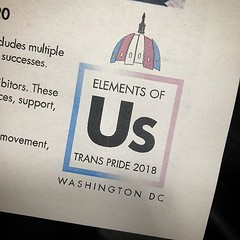 #AsDCGoesSoGoesTheNation #ElementsOfUs #ElementsOfTheFuture @capitaltranspride @capitalpridedc #TransVisibility #EqualityEqualsHealth #DC #LGBTQ 😀️🌈 All we need is an actual #unicode emoji for the #transgender pride flag. #CTP18 Is May 1