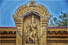 in the Kudroli Gokarnath Temple  ... (miriam ulivi) Tags: miriamulivi nikond7200 indiadelsud kanataka newmangalore kudroligokarnathtemple sculture sculpture divinità divinity flauto flute