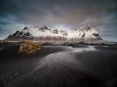 Black Sands of Stokksnes (www.lloydlane.uk) Tags: iceland stokksnes winter black sand cloudy snow south view