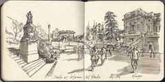 Junto al Museo del Prado (f.gómezcorisco) Tags: dibujo rotulador madrid castejao urbansketchers apunte cuaderno arquitectura boceto sketchingmadrid