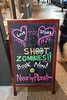 Shoot Zombies!! It's the cure. (Fred:) Tags: love stinks shoot zombies sign affiche enseigne halifax northend nearbyplanet virtualreality vr arcade games play game virtual reality réalité virtuelle signe signs pink magenta cure zombie business cool north end