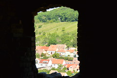 view from the ancient window (Hayashina) Tags: moravia mikulov czechrepublic window view houses hww