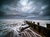 Drama on the beach of Aberdeen. (frodekoppang) Tags: stormclouds storm aberdeen scotland olympusomdem1markii olympus laowa75mm clouds sea ocean beach wideangle waves