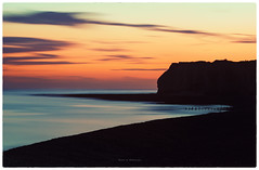Settling-Down (BesnikM) Tags: sunset susex nd longexposure sea newhaven red blue beach