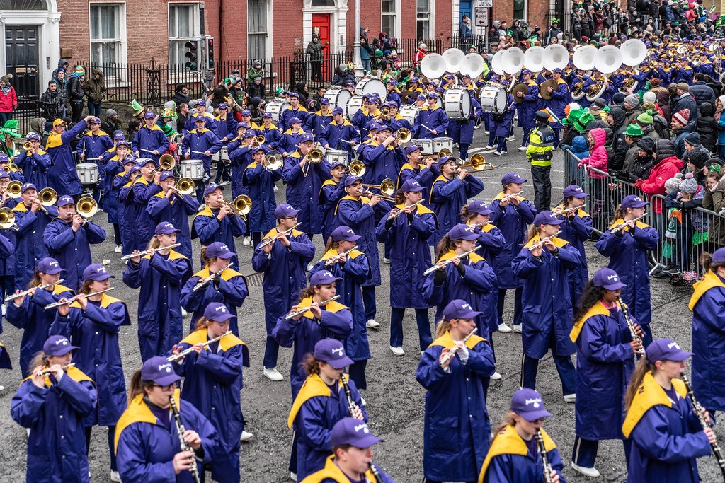 Jackson High School - Purple Army Marching Band [Dublin Patricks Day Parade 2018]-137633