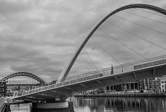 The Millennium Bridge, Gateshead, Newcastle upon Tyne, Tyne and Wear, North East England, UK. . . (CWhatPhotos) Tags: cwhatphotos gateshead olympus penf pen micro four thirds camera reflection walkway photographs photograph pics pictures pic picture image images foto fotos photography artistic that have which contain newcastle upon tyne river bythe north east england uk bridge span crossing millennium blue water host city day skies thebaltic baltic buildings clouds wide angle tilt tilting reflections