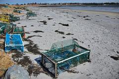 Tossed lobster traps at Lockeport Beach, Nova Scotia (internat) Tags: 2018 canada novascotia ns lockeport aurorahdr hdr eosm5 beach traps lobstertraps