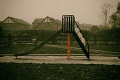 Slide (LeBlanc_Nigel) Tags: red park slide winter snow storm playground 7d canon