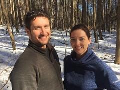 Ann and Aaron, Stinchfield Woods, March 2018 (marylea) Tags: washtenawcounty michigan stinchfieldwoods aaron ann 2018 mar18 iphone