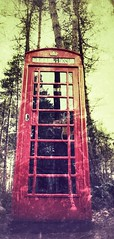 Forest Phonebox (paulmcmorrow) Tags: spooky lost red phonebox nottingham centerparcs