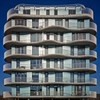 Oh Island in the Sun (Paul Brouns) Tags: architecture architectuur architektur waves facade square sunlight sunny blue balcony balconies windows abstract geometry rhythm almere flevoland netherlands holland appartments residential building