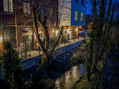 Night Lights (Explored 22/03/2018) (Mad Cow Imagery) Tags: apartments buildings lights river trees tree canoneos80d outdoors dusk stansted villagelife village stanstedmountfitchet essex england gb greatbritain uk unitedkingdom