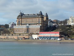 Scarborough (joshuamfawcett) Tags: scarborough beach lighthouse spa church sea seaside town houses boat