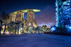 Marina Bay Sands and Gardens by the Bay, Singapore (KSAG Photography) Tags: hotel architecture engineering design skyscraper building singapore asia southeastasia night nightphotography city urban landscape hdr wideangle nikon 2017