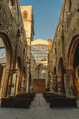 St. Christopherus (tehroester) Tags: church mainz destroyed ruins sony alpha 7 2470 lighting mood orange golden hour architecture old new