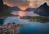 eSseNcE (AlbertMu7) Tags: norway lofoten ostilden reine sunset paisaje nature naturaleza mountain mountains