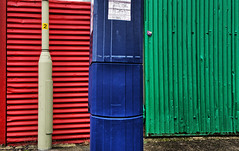 RGB Colour Space (nerd.bird) Tags: red green blue wall corrugated colourful