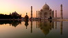 My Taj (Eye of Brice Retailleau) Tags: angle beauty composition landscape outdoor panorama paysage perspective scenery scenic view extérieur ciel sky backpacking earth travel vista reflection reflet mirror colourful colours light water waterscape eau calme sunset coucher de soleil crépuscule people personnes unesco architecture temple marble dome columns asia asie india inde agra taj mahal