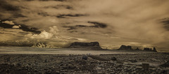 Clouds Over Monument Valley - Infrared Panorama (Bill Gracey 17 Million Views) Tags: infrared infraredphotography ir convertedinfraredcamera clouds clarity panorama monumentvalley sky highcontrast nature formations vacation