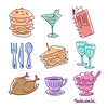 Food Icons (theinkedmink) Tags: icons vector illustration drawing handdrawn draw illustrate icon vectors food