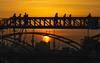 Tramonto amburghese (Fil.ippo) Tags: sunset tramonto hamburg amburgo silhouette golden filippo filippobianchi d610 nikon travel sun sole bridge ponte porto harbour